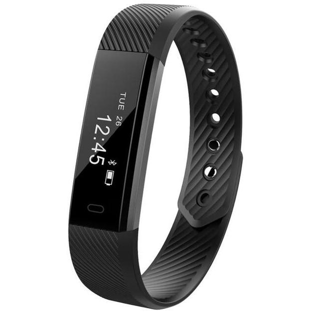 Smart Fitness Tracker Bands w/ Heart Rate Monitor - Black