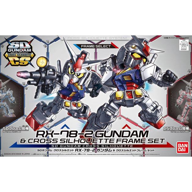 SD Cross Silhouette: Gundam & Cross Silhouette Frame Set - Model Kit