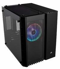 Corsair Crystal Series 280X RGB Tempered Glass Micro ATX Case — Black