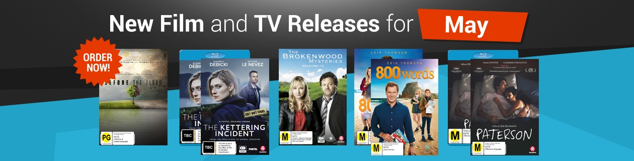 New Film and TV Releases for May!