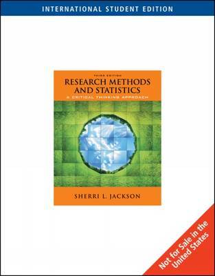 Research Methods and Statistics by Sherri Jackson image