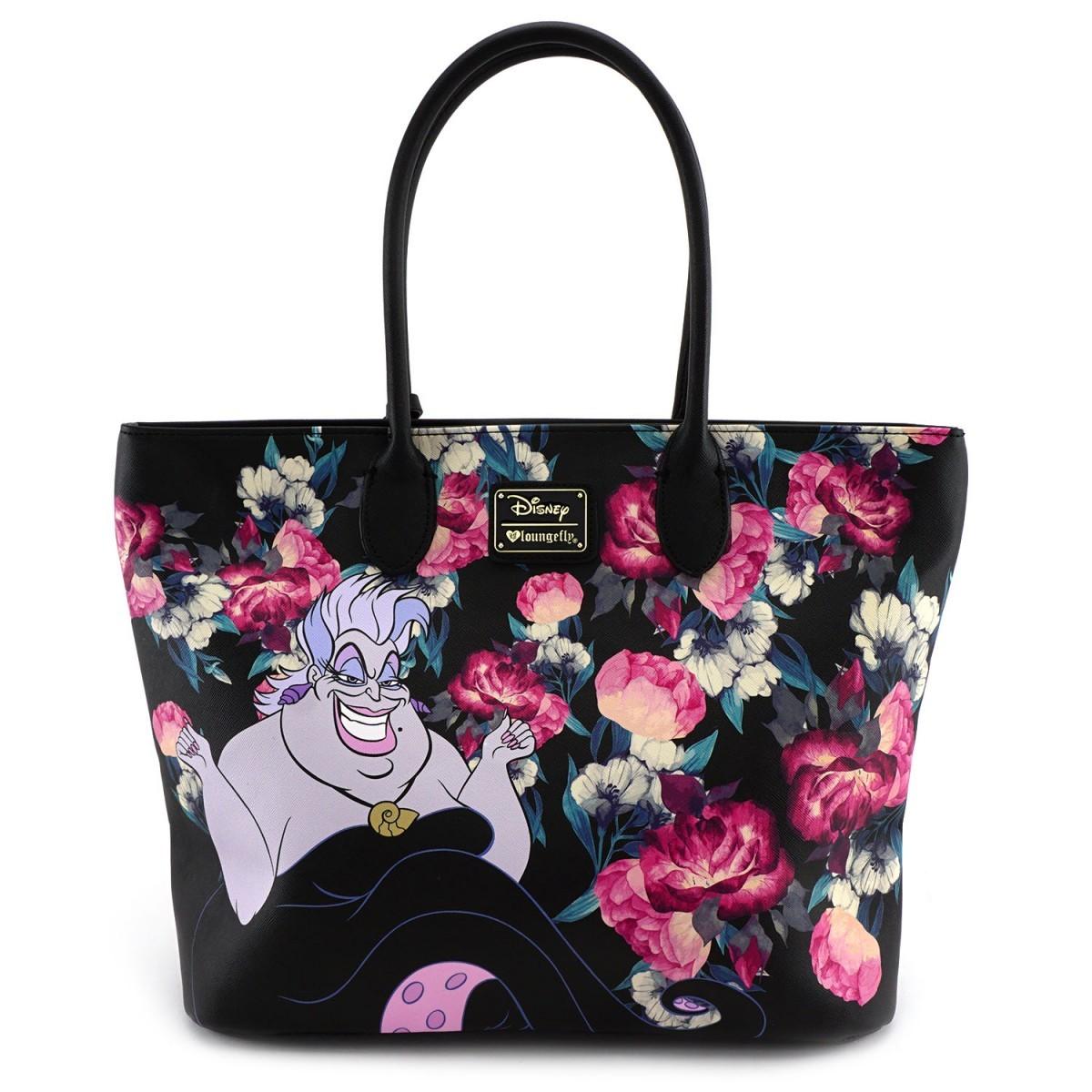 0c0e8568d54 ... Loungefly  Disney Villains - Floral Tote Bag image ...