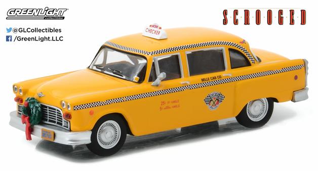 1/43: New York City Checker Cab - Scrooged Movie - Diecast Model