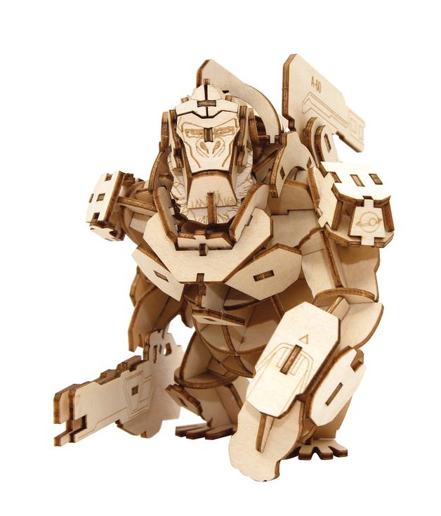 Incredibuilds: Overwatch: Winston 3D Wood Model