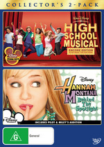 High School Musical / Hannah Montana Behind The Spotlight - Collector's 2-Pack (2 Disc Set) on DVD