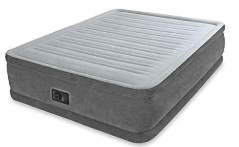 Intex: Queen Comfort - Plush Elevated Air-Bed Kit (w/220-240 built in pump)