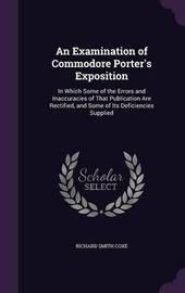 An Examination of Commodore Porter's Exposition by Richard Smith Coxe image