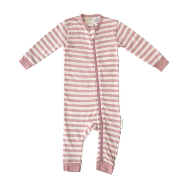 Woolbabe Merino/Organic Cotton PJ Suit - Dusk (1 Year)