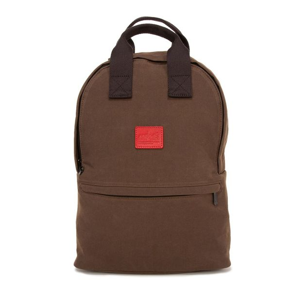 Manhattan Portage: Waxed Nylon Governors Backpack - Dark Brown