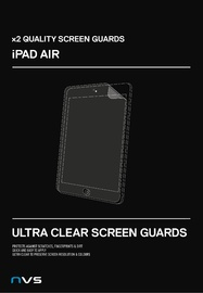 NVS Clear Screen Protector for iPad Air (2 Pack)