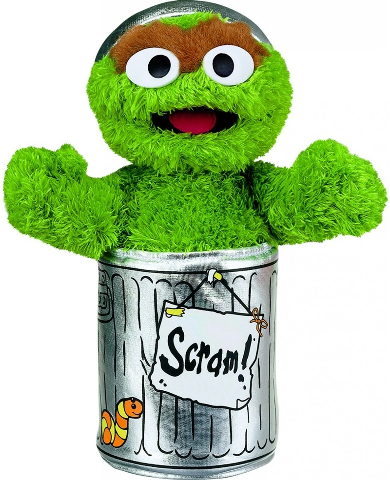 Sesame Street - Soft Toy Small Oscar The Grouch image