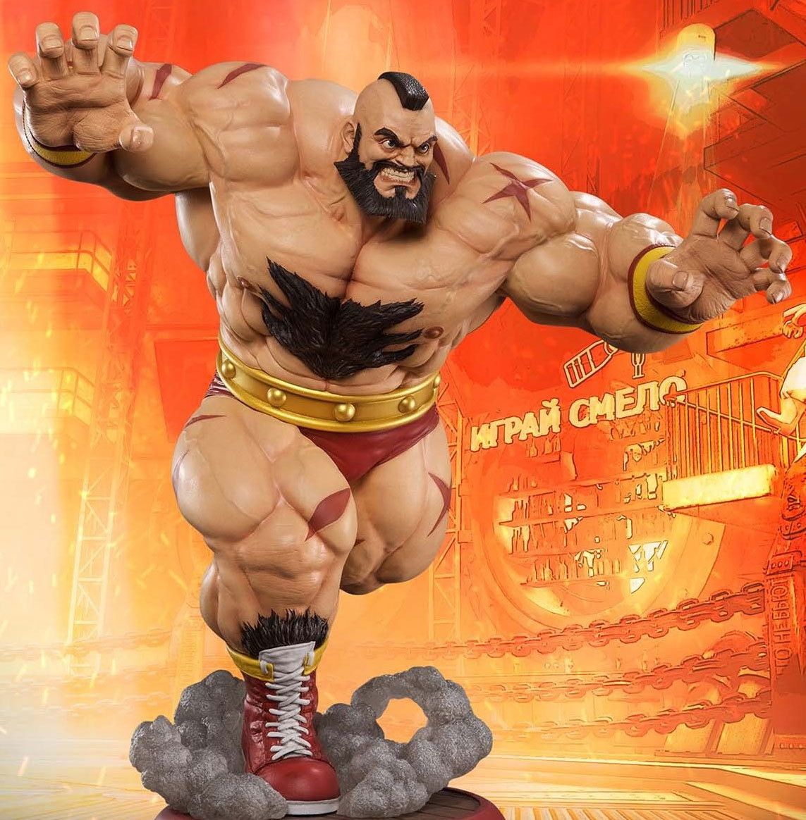 Streetfighter Zangief 1 4 Scale Statue At Mighty Ape Nz