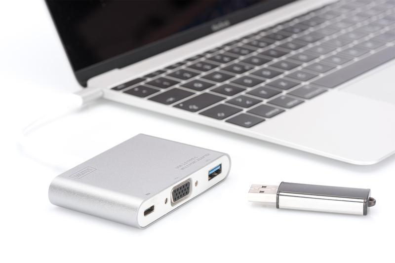 Digitus USB Type-C to VGA Multiport Adapter with Power Delivery image