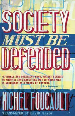 Society Must be Defended by Michel Foucault image