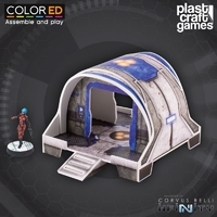 ColorED Scenery: TME - Curved Modular Building