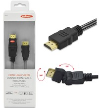 Ednet HDMI Type A v1.4 (M) to HDMI Type A Rotate (M) Monitor Cable (2m) image