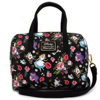 Loungefly: Disney Alice Floral - Characters Duffle Bag