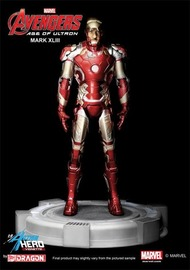 Marvel: Iron-Man (Mark 43) with Tony Stark Head - Vignette Model Kit