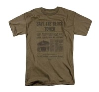 Back to the Future: Save The Clock Tower - Men's T-Shirt (Medium)
