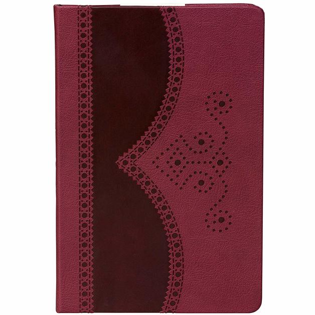 Ted Baker: Brogue A5 Notebook - Oxblood