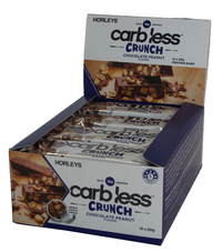 Horleys Carb Less Crunch Bars - Chocolate Peanut (12 x 50g Pack)