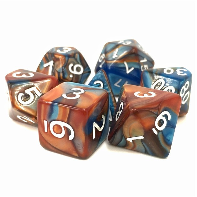 Scrying Stone Fusion Polyhedral Dice Set