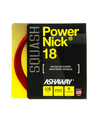 Ashaway Powernick 18g Red Squash String Set