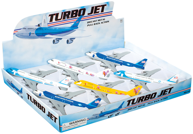 Toysmith: Pull Back Turbo Jet - (Assorted Designs)