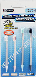 Retractable Metallic Touch Pen Set for Nintendo DS image