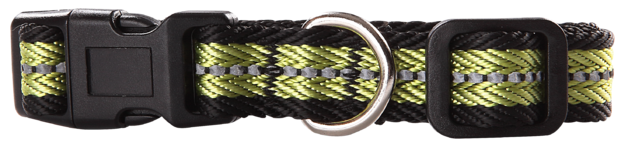Pawise: Dog Reflective Collar - Green/Large (40-65cm/25mm)