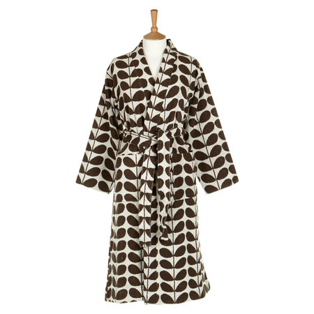 Orla Kiely Nutmeg Stem Luxury Jacquard Dressing Gown (L/XL)