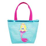 Pink Poppy Summer Mermaid Handbag - Blue