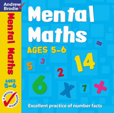 Mental Maths for Ages 5-6 by Andrew Brodie image