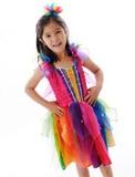 Fairy Girls - Ribbon Fairy Dress Rainbow (Medium, age 4-6)