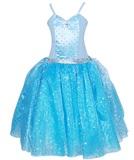 Pink Poppy: Snowflake Princess Dress 3/4 - Blue