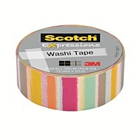 Scotch Washi Craft Tape Blurred Lines 15mm x 10m
