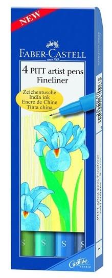 Faber-Castell: Pitt Artist Pen Set - Cold - 4 Pack