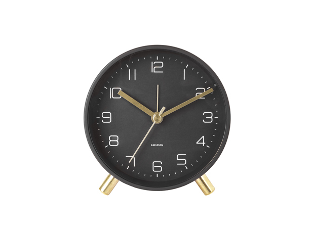 Karlsson Lofty Alarm Clock - Black