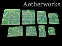 Aetherworks: Infinity Sizing Template Set - Fluorescent Green (7 Pack)