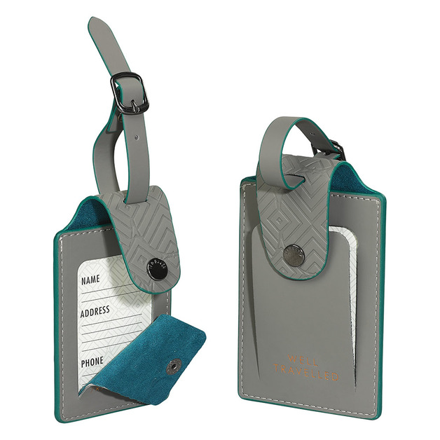 e66425e134b55b Ted Baker Luggage Tags x 2 (Ash Grey)