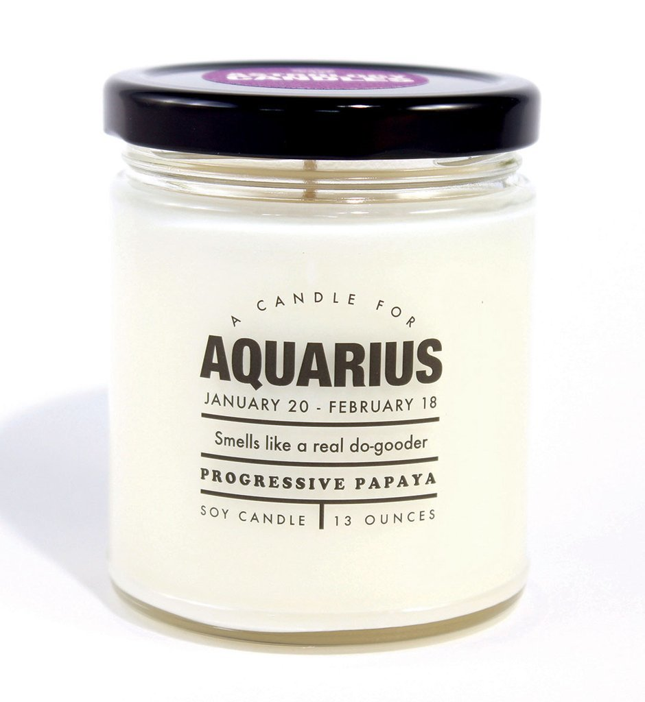 Whiskey River Co: Astrology Candle - Aquarius image