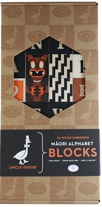 Uncle Goose - Maori Alphabet Block Set image