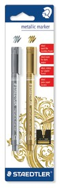 Staedtler Fibre Tip Pens Metallic (2 Pack)