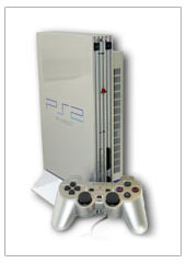 PlayStation 2 Satin Silver Console for PS2