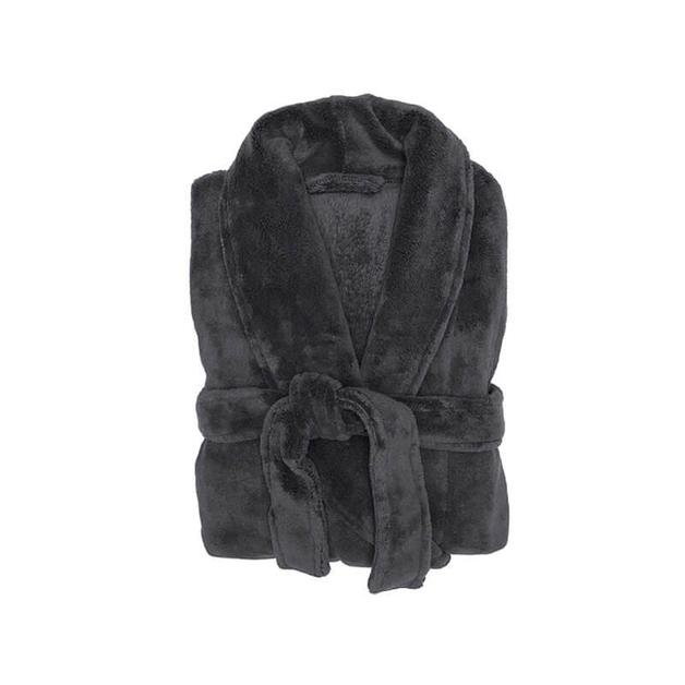 Bambury Charcoal Microplush Robe (Small/Medium)