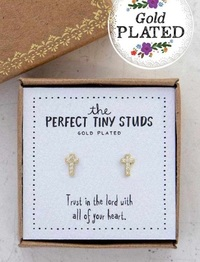 Natural Life: Perfect Tiny Studs - Cross image