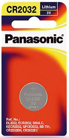 Panasonic Lithium 3V Coin Cell Battery CR2032 - 1 Pack