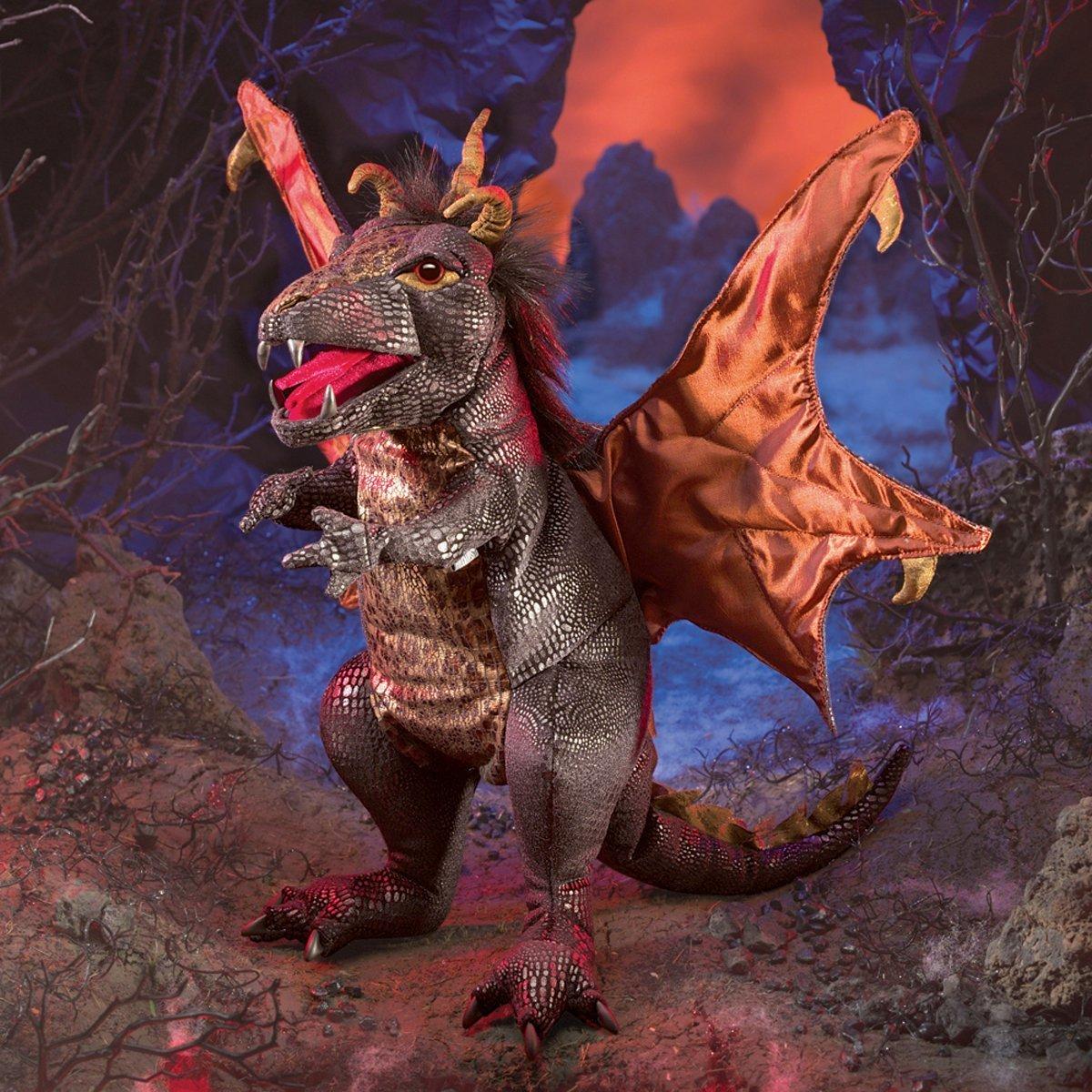 Folkmanis Hand Puppet - Black Dragon image
