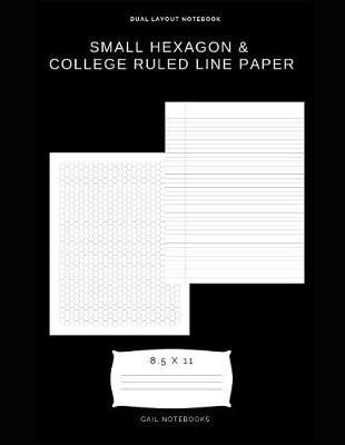 Small hexagon & college ruled line paper by Gail Notebooks