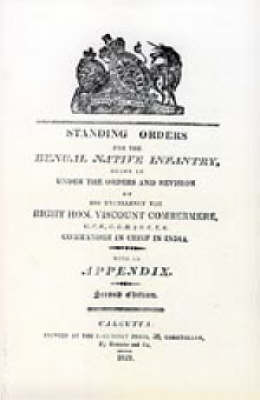 Standing Orders for the Bengal Native Infantry 1829 by N/A image